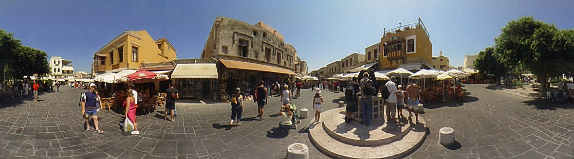 ''Evreon martiron'' square, ''The small fountain'', Rhodes Old Town Photo Image of Rhodes - Rodos - Rhodos island, Greece