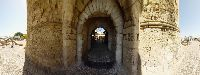 Image of One of the 11 Gates of Rhodes Old town, this is ''Thalasini'' gate, also called kolona.Rhodes Rhodos Rodos Photo