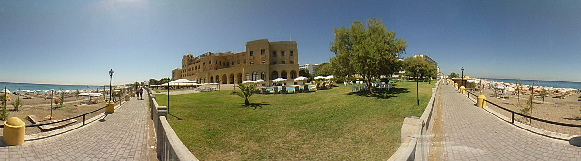 The ''Casino Rodos'', a view from the beach., Rhodes Town Photo Image of Rhodes - Rodos - Rhodos island, Greece